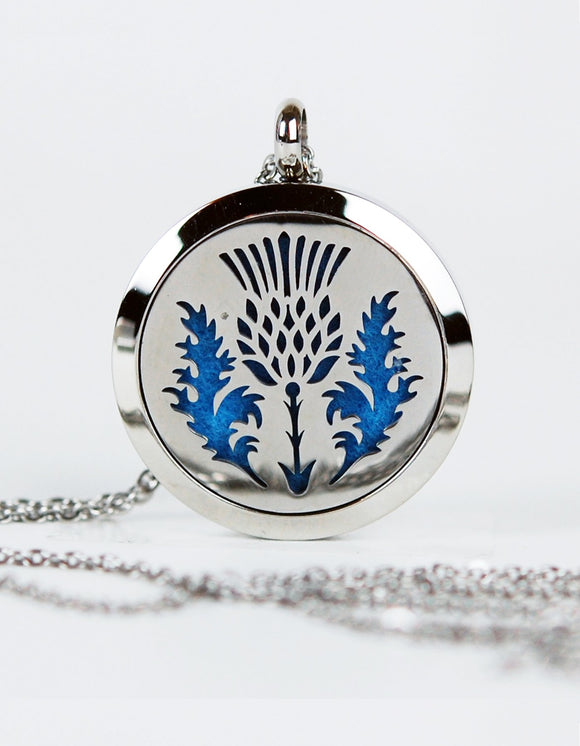 Scottish Thistle Aromatherapy Pendant