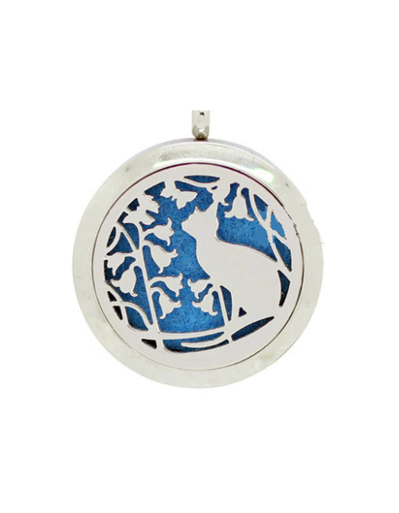 Cottage Cat Aromatherapy Pendant