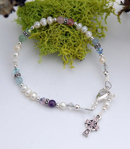 Child's Pearls and Gemstone Blessings Bracelet