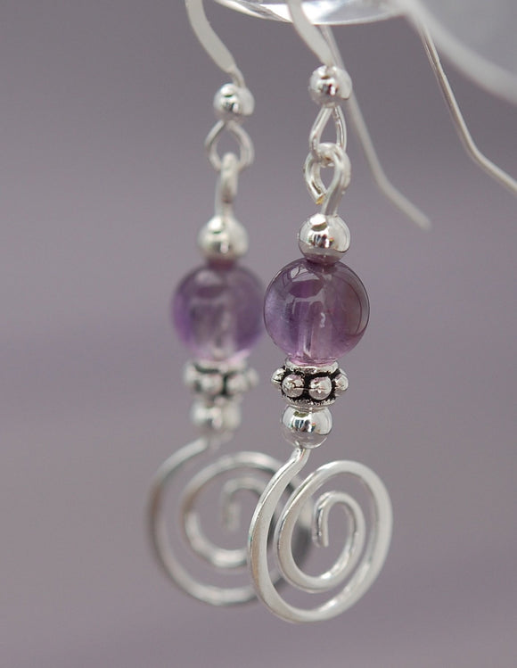 GS201 Amethyst with Celtic Spiral
