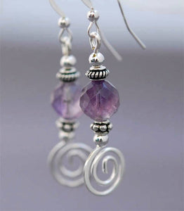 GS378 Faceted Amethyst with Celtic Spiral