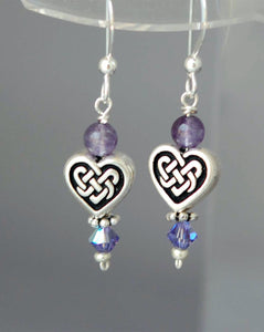 GS380 Amethyst with Celtic Heart Knot