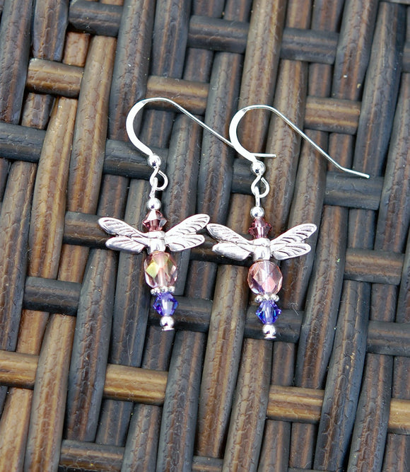 GS391-P Lavender and Soft Pink Celtic Dragonfly