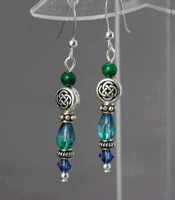 GS422 Ocean Vortex Celtic with Malachite