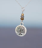 GS425 Two-tone Celtic Tree of Life Medallion