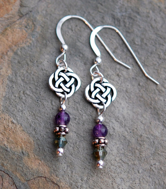 GS564 Round Knot Celtic with Amethyst - 3pk