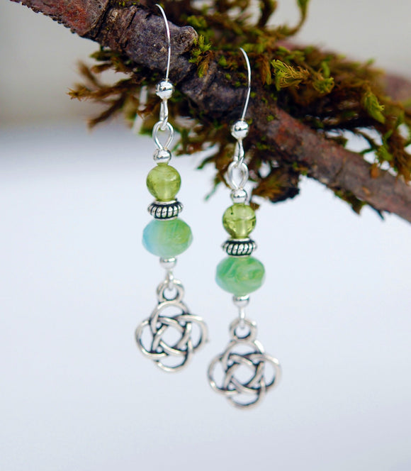 Peridot with Celtic Knot - 3pk