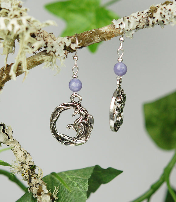GS681 Celtic Dragon Circle with Lavender Angelite