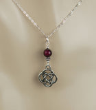 GS689 Red Garnet with Celtic knot