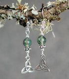 GS720 Moss Agate with Trinity Knot