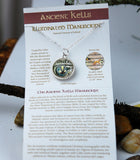 KELLS-05 Ancient Kells Manuscript Double-sided Pendant