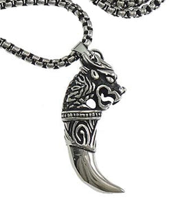 DM-06 Stainless Steel Celtic Wolfhound Pendant