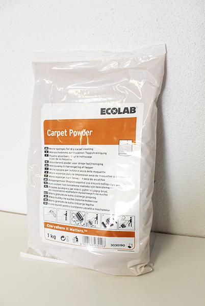 Ecolab Carpet Powder - Tæpperens i pulverform, 1kg.