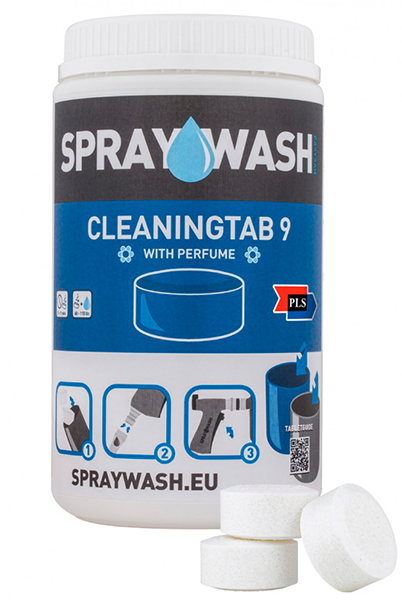 SprayWash system Tabs - Cleaningtab 9, uden parfume