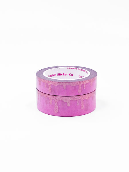 Pink / Pixie Pink Foil Drip Washi Set (15/10mm)