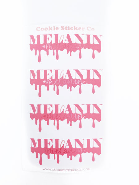 Melanin Drip  - Valentine 1.0 - Satin Pink - Sticker Seals (1 sheet)