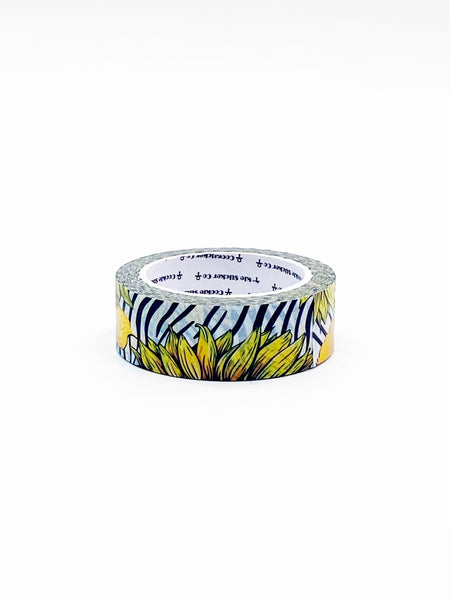 15mm SUNFLOWER Zebra Washi with gold foil