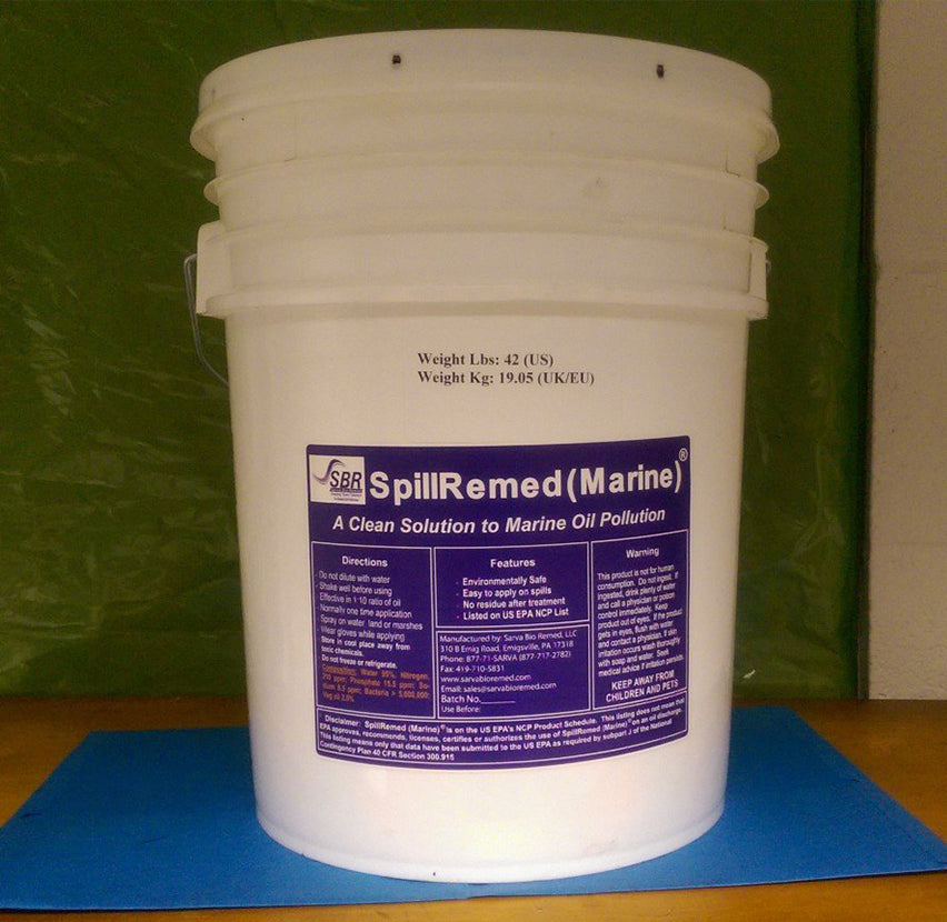SpillRemed (Marine) 5 G (18.9 L): For marine spills