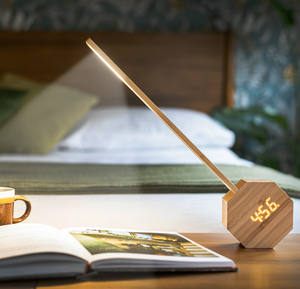 Gingko Octagon One Plus - Portable Alarm Desk Light