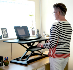 L-E-Vate Pro Active Sit-Stand Desktop Workstation