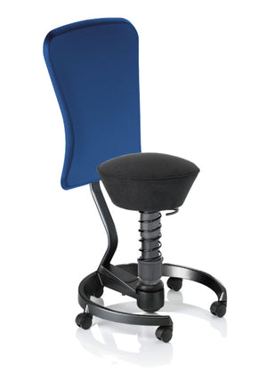 swopper STANDARD Active chair with Normal Rollers and DYNAMIC Backrest