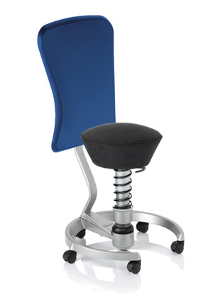 swopper STANDARD Active chair with Carpet Rollers and DYNAMIC Backrest