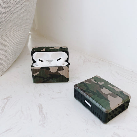 Image of Army Green Airpods 1/2/3 case wireless headphone Airpods Pro Case
