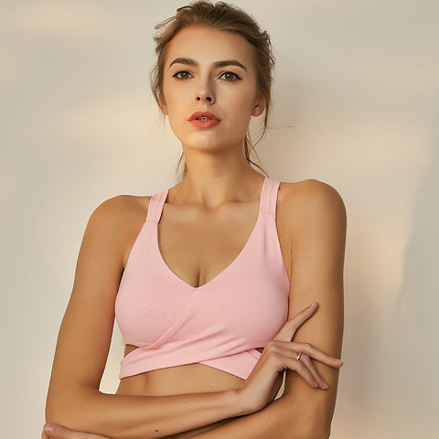 Image of Unique Wrap Front Impact Sports Bra