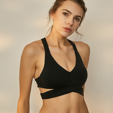Unique Wrap Front Impact Sports Bra