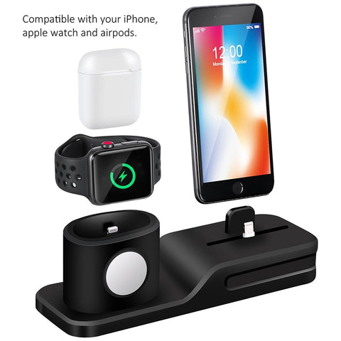 Silicone 3 in 1 Charging Dock Station