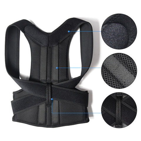 Image of Adjustable Support Corset Back Belt for Men