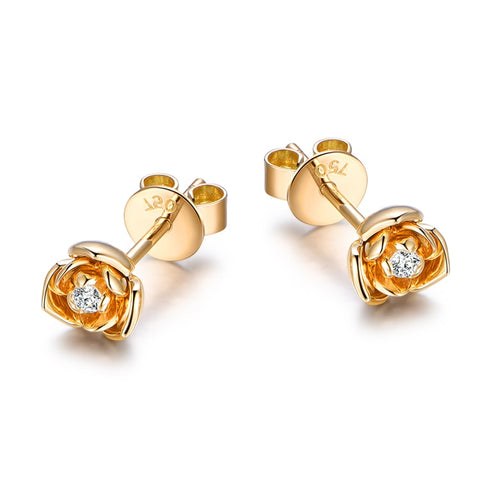 0.06ct Rose Diamonds Ear Studs 18K Gold