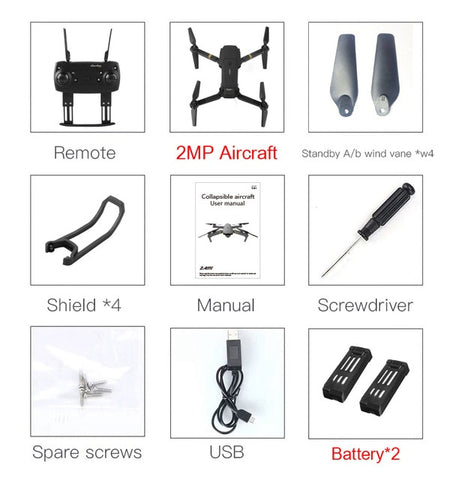 HD Camera Foldable Arm RC Quadcopter Drone