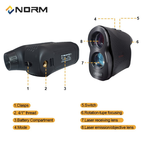 Image of Laser Rangefinder 600M 900M 1200M 1500M Laser Distance Meter for Golf Sport, Hunting, Survey