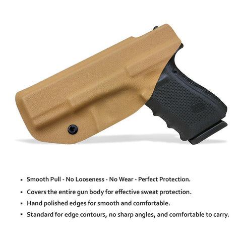 BBF Make IWB Tactical KYDEX Gun Holster Glock A19 17 25 26 27 28 43 22 23 31 32