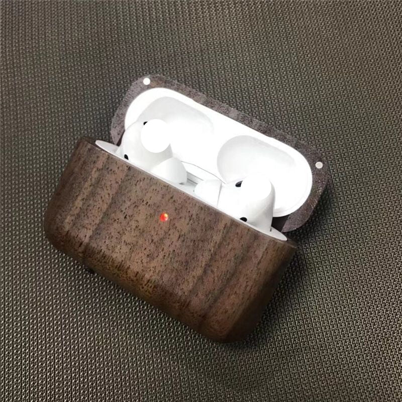 Wireless Earphone Case For Apple Airpods Pro Case wood Headphone Cover Silicone