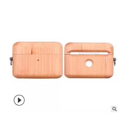 Airpods Pro Case wood Headphone Cover Silicone