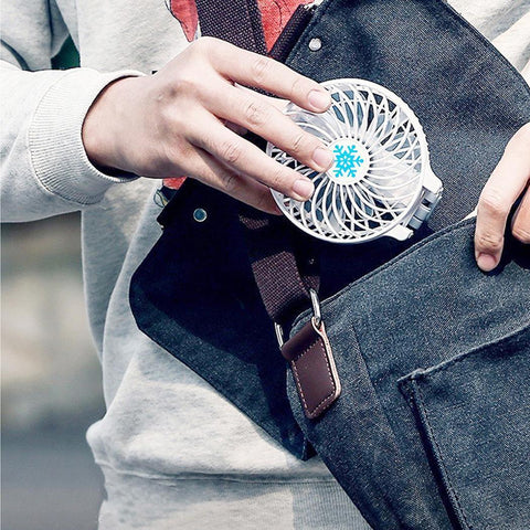 Image of Portable Mini USB Fan Foldable Hand Held Rechargeable