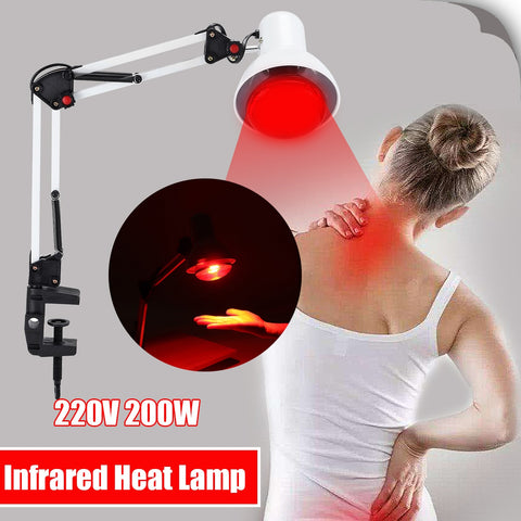 Image of 220V 100W Infrared Heat Lamp Heating Therapy Light
