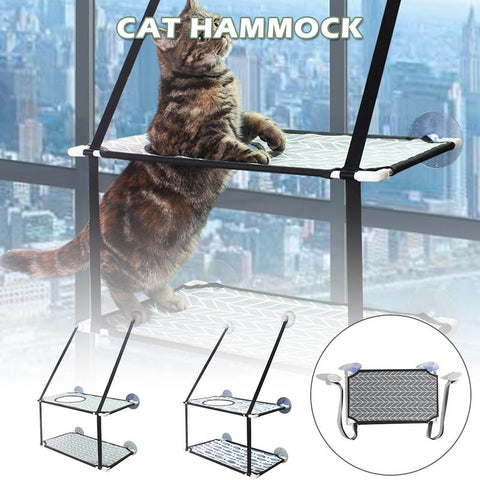 Image of Cat Hammock Window Perch Balcony Suction Cup Soft Mats