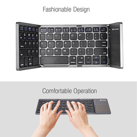 Image of Portable Folding Wireless keyboard bluetooth