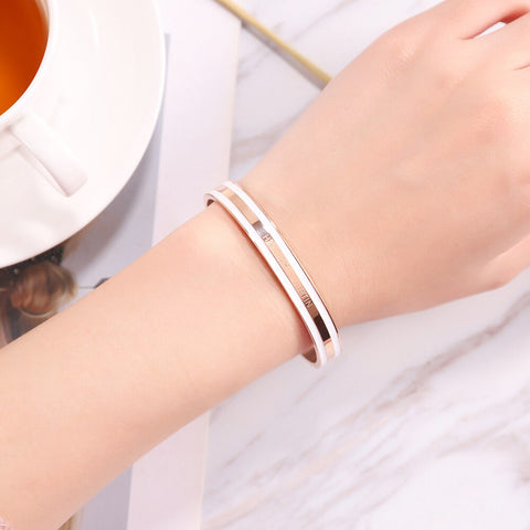 Women Bracelet Fashion Stainless Steel Bracelet Circle Dress Female Bangles Jewelry