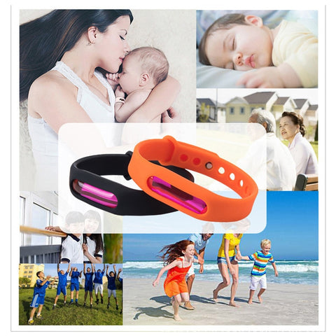 Dropship Mosquito Killer Silicone Wristband Summer Mosquito Repellent Bracelet Anti Mosquito Band Children Insect Killer