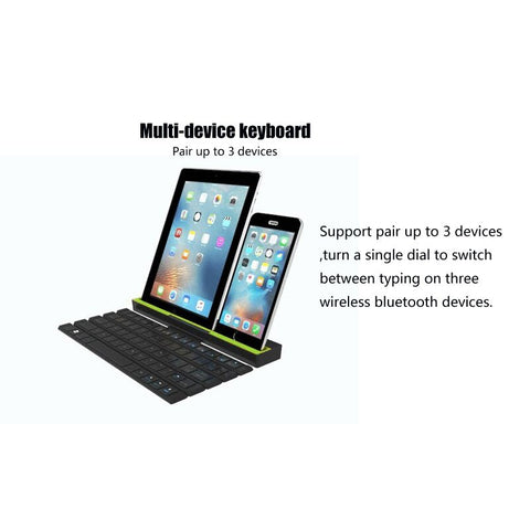Foldable bluetooth Keyboard For Table PC iPad iPhone