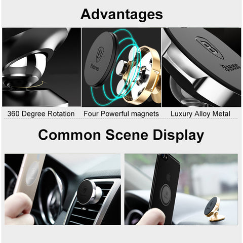 Baseus Magnetic Car Holder For Phone Mobile Cell Phone Stand For Car Air Vent Mount