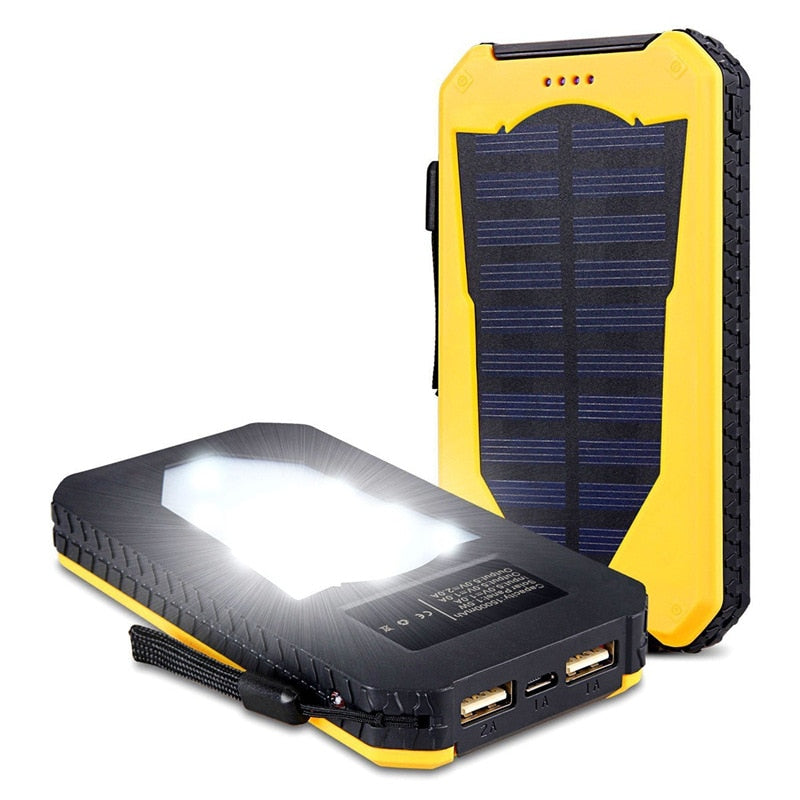 Waterproof Solar Powered Phone Charger