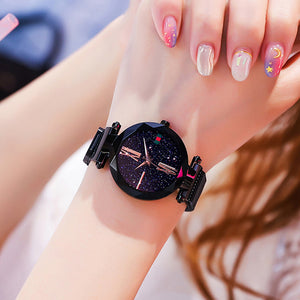 Ladies Magnetic Starry Sky Clock Luxury Women Watches Fashion Wristwatches