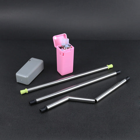 Foldable Reusable Collapsible Straw Metal 23cm
