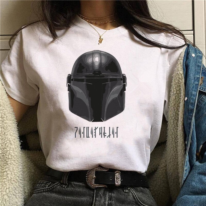 2020 Summer Baby Yoda Mandalorian T Shirt women girl 90s T-shirt tees
