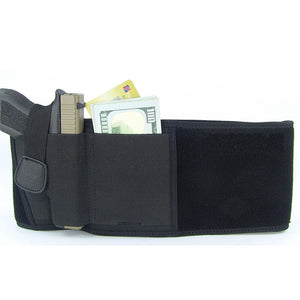 Tactical Pistol Holster Military Portable Hidden Holster Wide Belt Mobile Phone Holster  (Black)